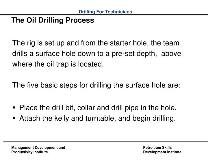 The Oil Drilling Process