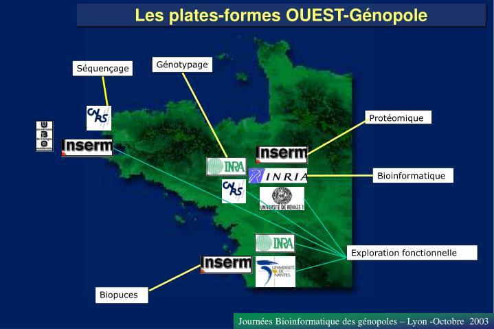 Les plates-formes OUEST-Génopole