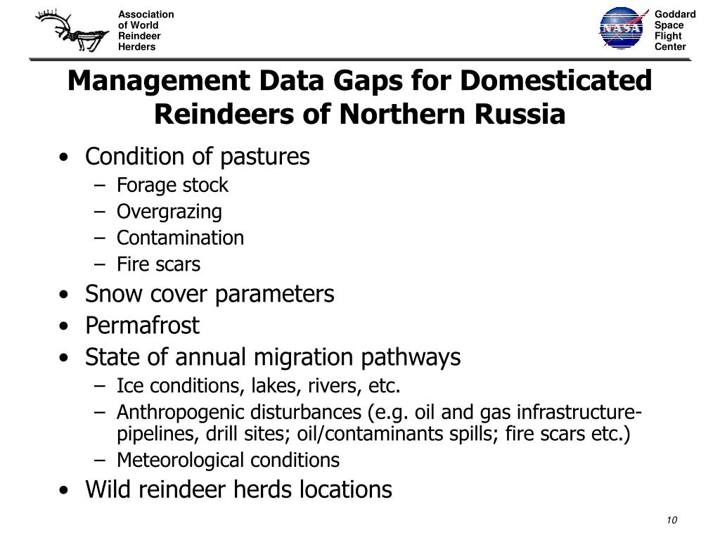 Management Data Gaps for Domesticated Reindeers of Northern Russia