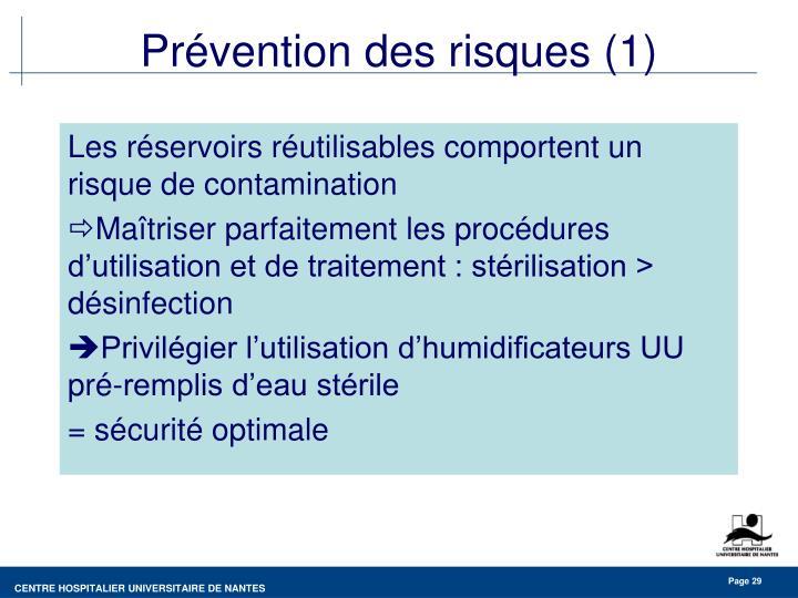 Prévention des risques (1)