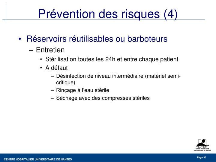 Prévention des risques (4)