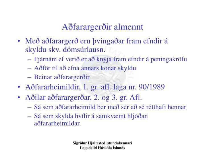 Aðfarargerðir almennt
