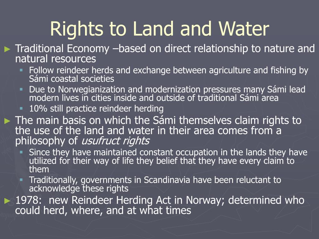 Rights to Land and Water