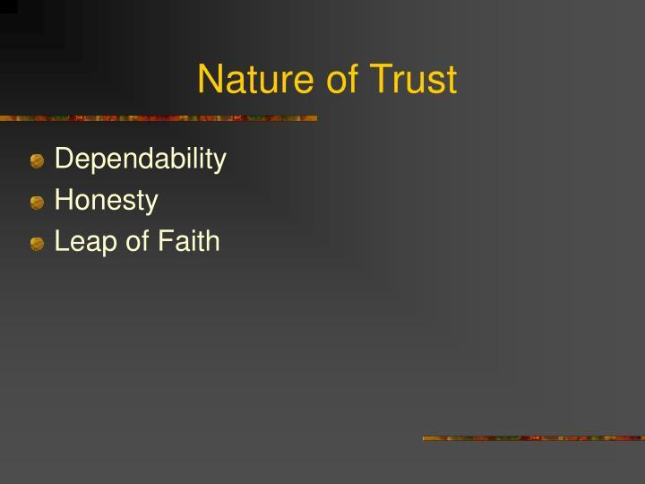 Nature of Trust