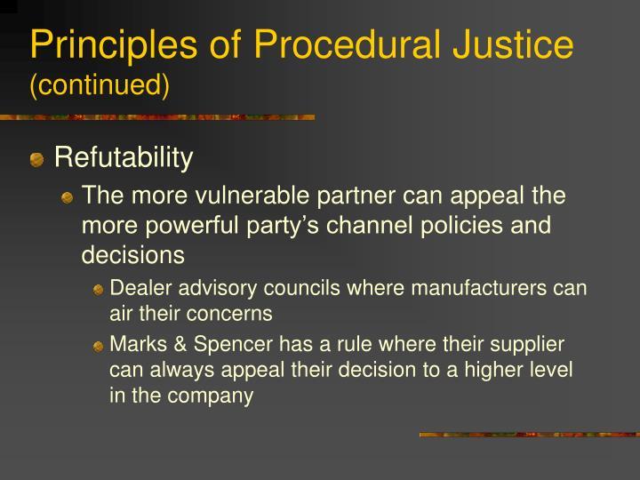 Principles of Procedural Justice