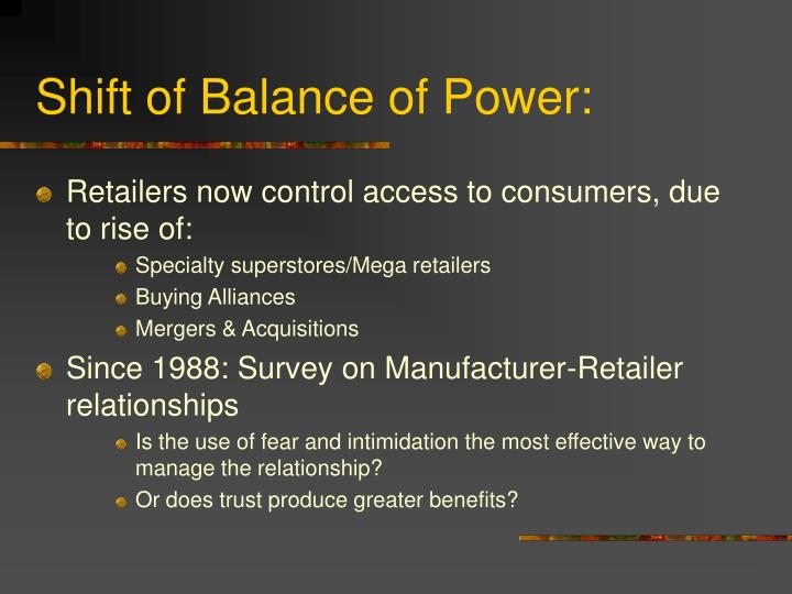 Shift of Balance of Power: