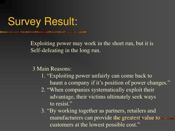 Survey Result:
