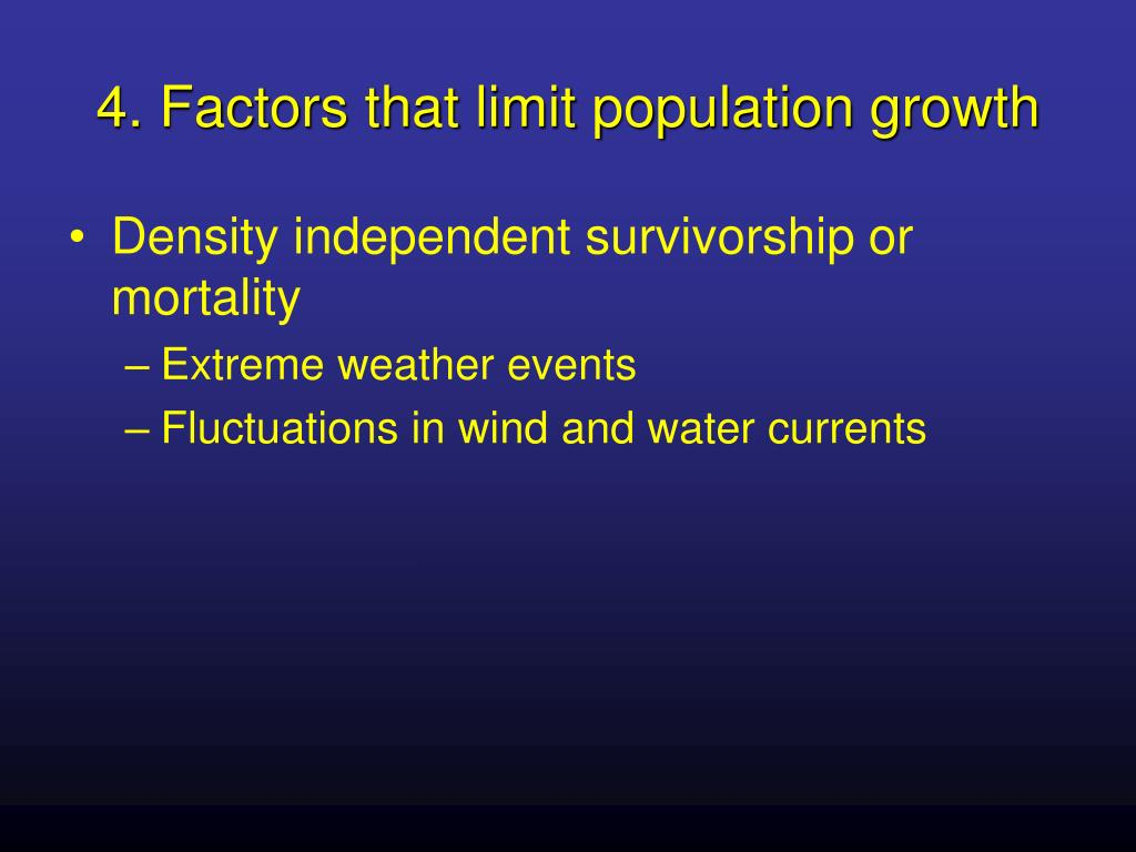 4. Factors that limit population growth
