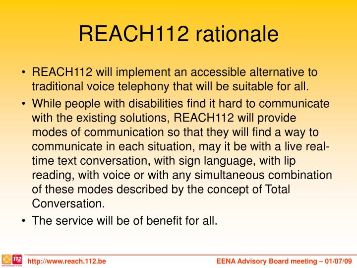 REACH112 rationale