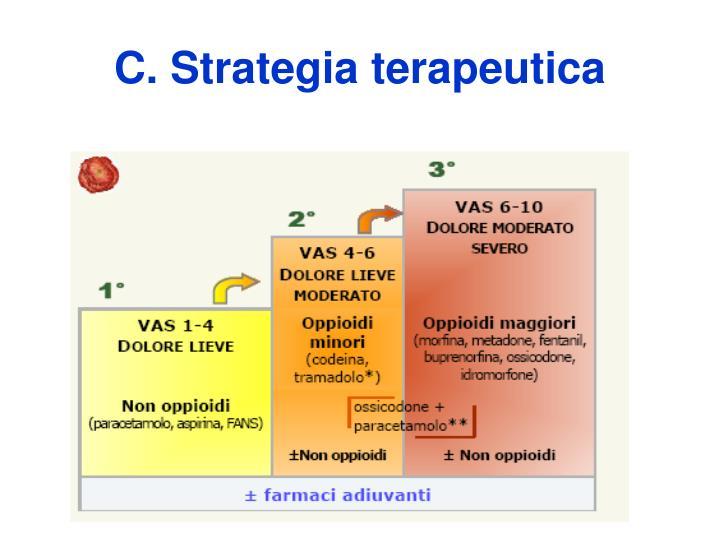 C. Strategia terapeutica