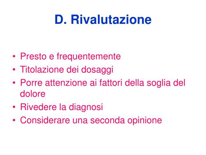 D. Rivalutazione
