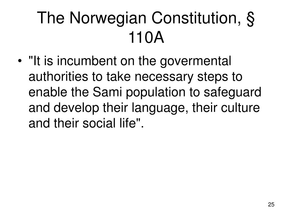 The Norwegian Constitution, § 110A