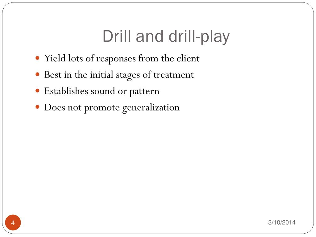 Drill and drill-play