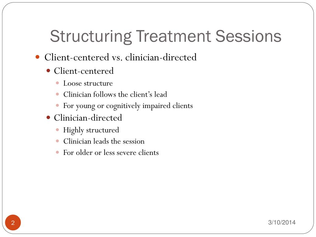 Structuring Treatment Sessions