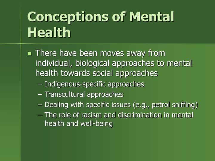 Conceptions of Mental Health