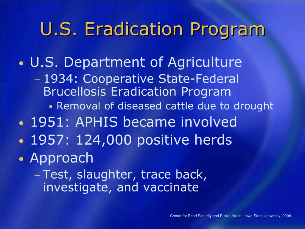 U.S. Eradication Program