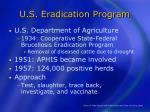 u s eradication program