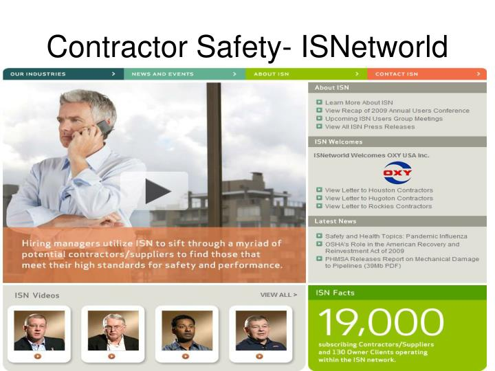 Contractor Safety- ISNetworld