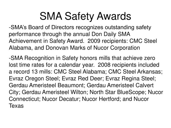 SMA Safety Awards
