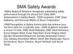 sma safety awards