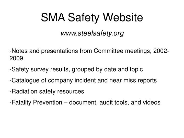 SMA Safety Website