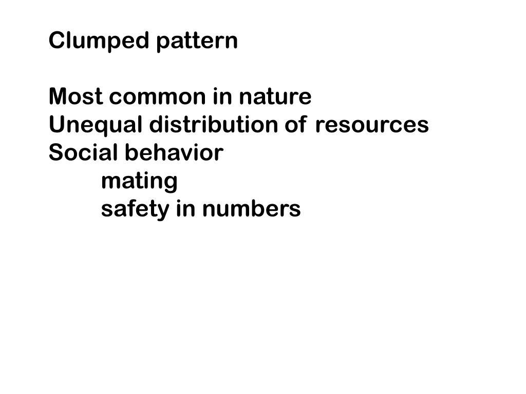Clumped pattern