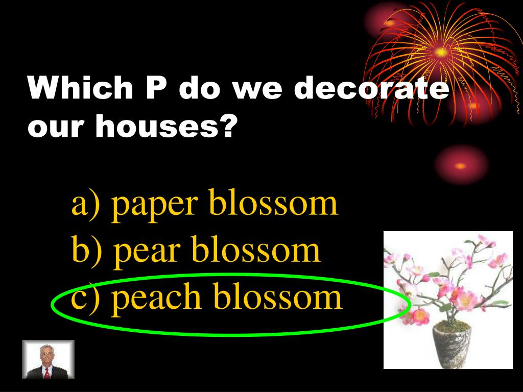 Which P do we decorate our houses?