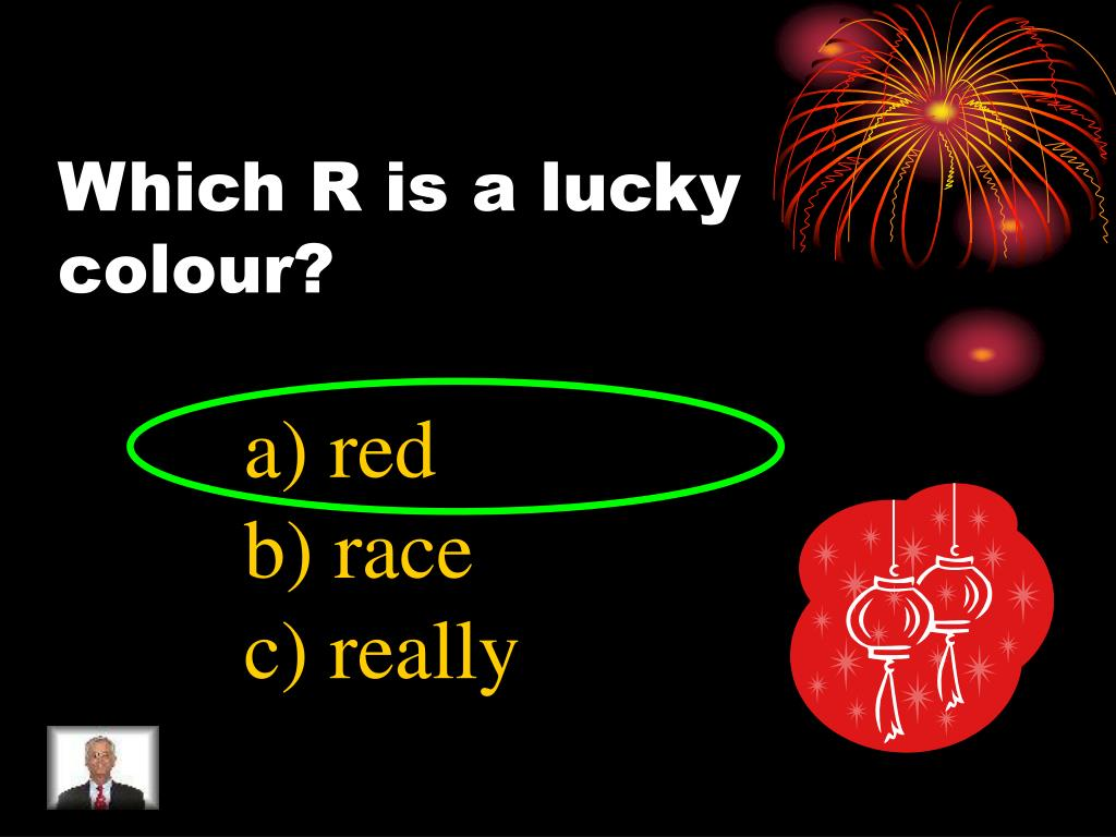 Which R is a lucky colour?