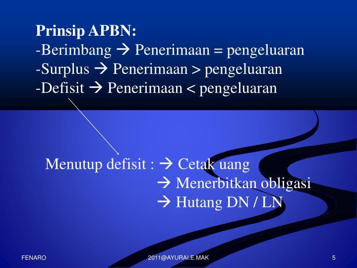 Prinsip APBN: