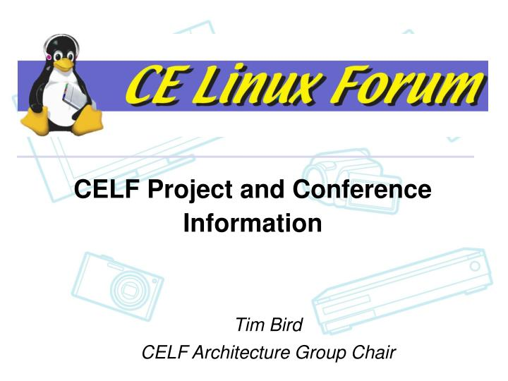 Celf project and conference information