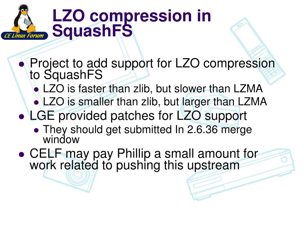 LZO compression in SquashFS