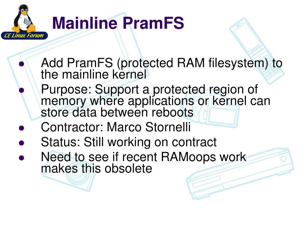 Mainline PramFS