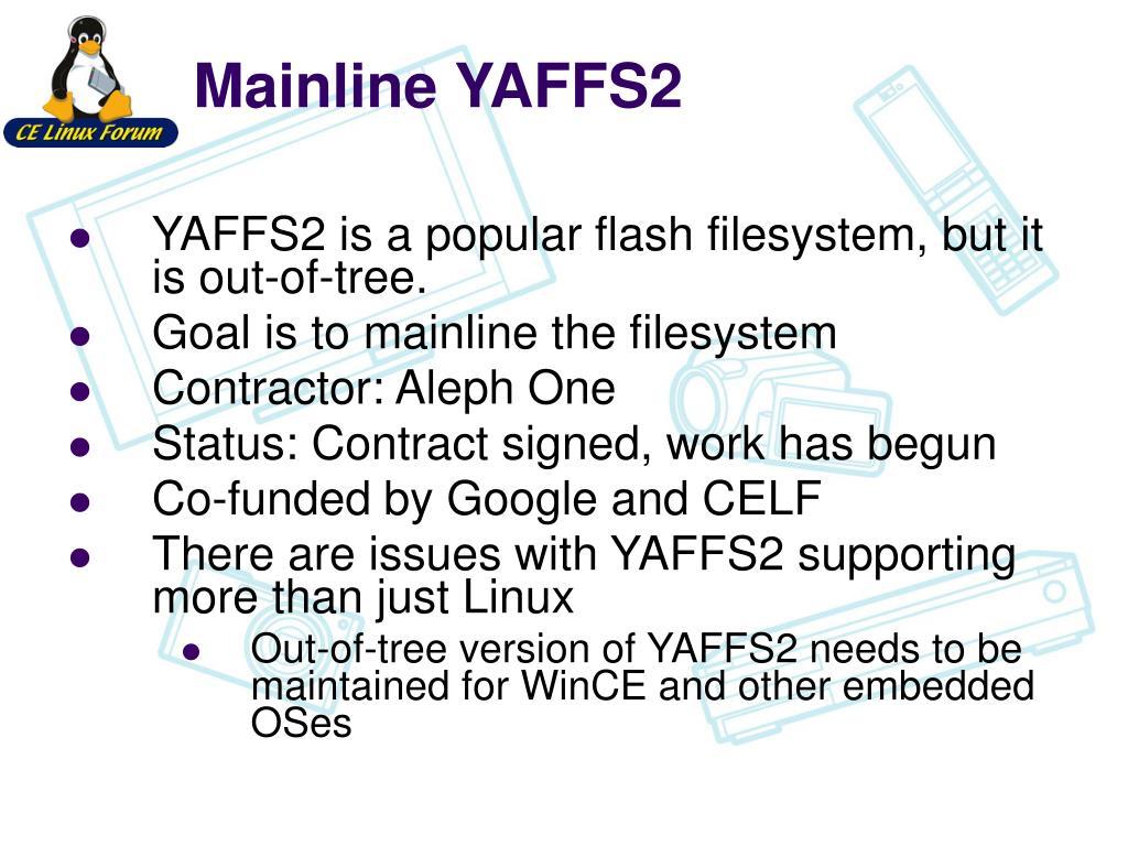 Mainline YAFFS2