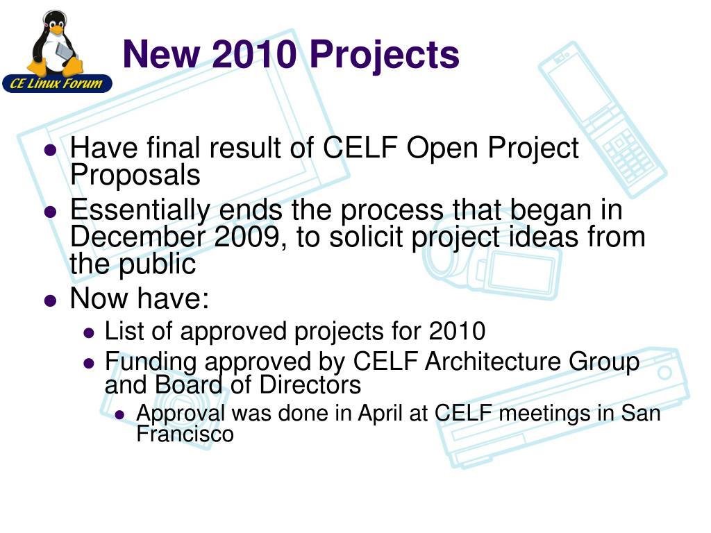 New 2010 Projects