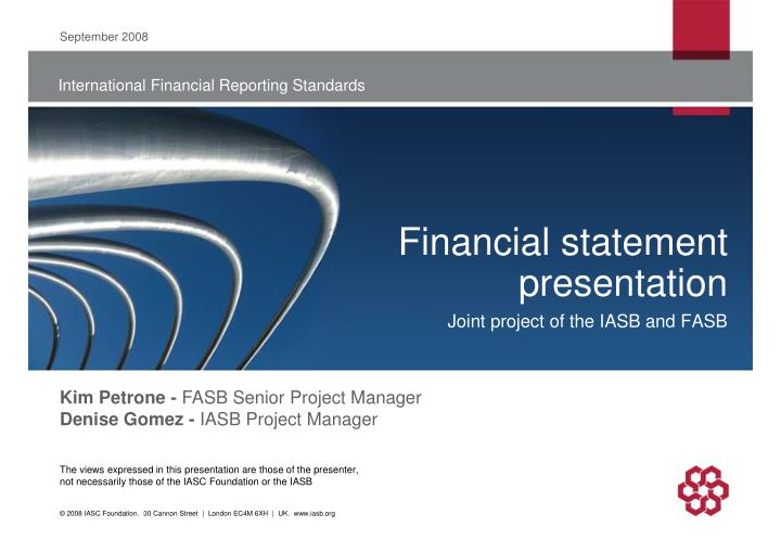 Financial statement presentation l.jpg
