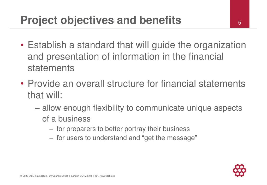 Project objectives and benefits