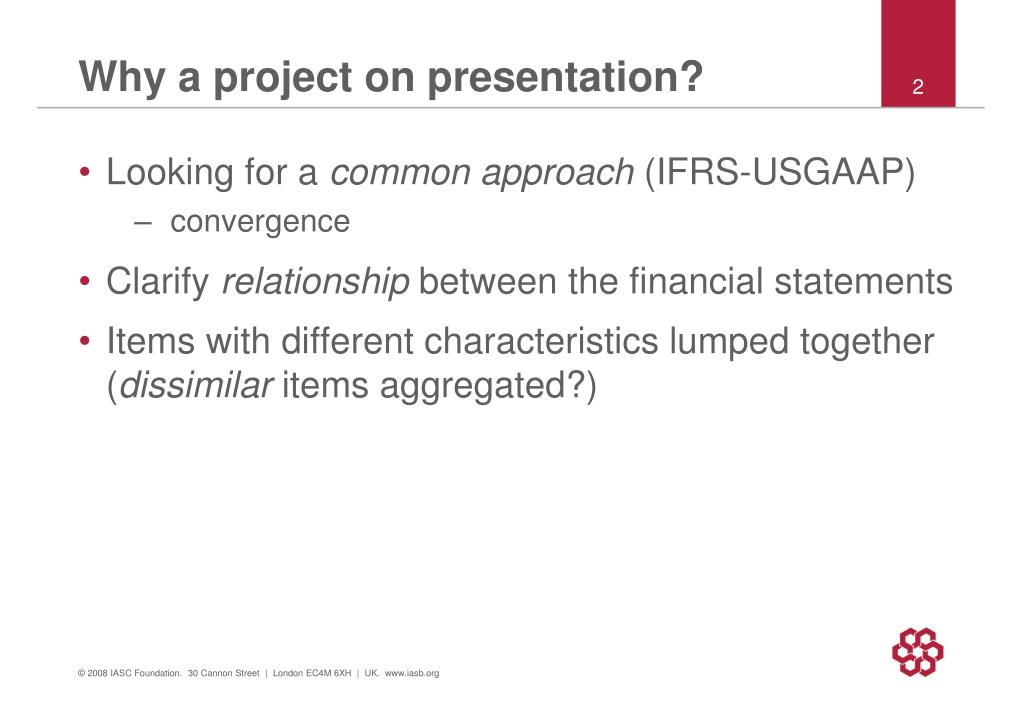 Why a project on presentation?
