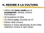 il regime e la cultura
