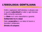l ideologia gentiliana