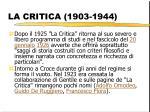 la critica 1903 1944