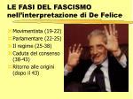 le fasi del fascismo nell interpretazione di de felice