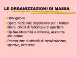 le organizzazioni di massa