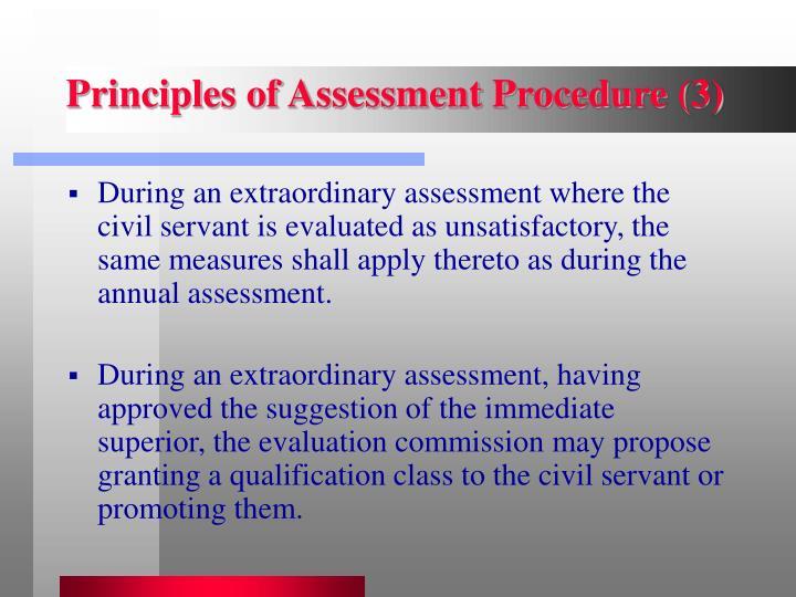Principles of Assessment Procedure (3)