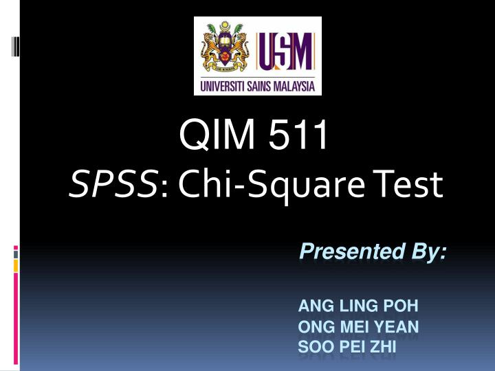 Qim 511 spss chi square test