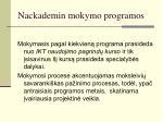 nackademin mokymo programos1