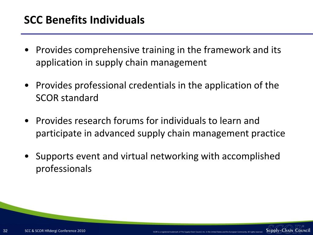 SCC Benefits Individuals