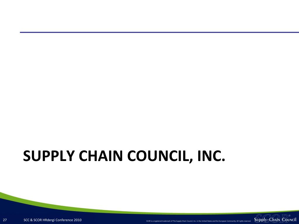 SUPPLY CHAIN COUNCIL, INC.