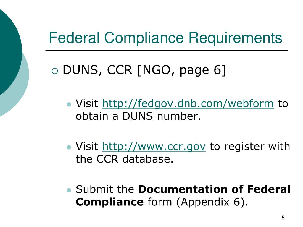 Federal Compliance Requirements