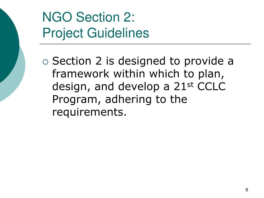 NGO Section 2: