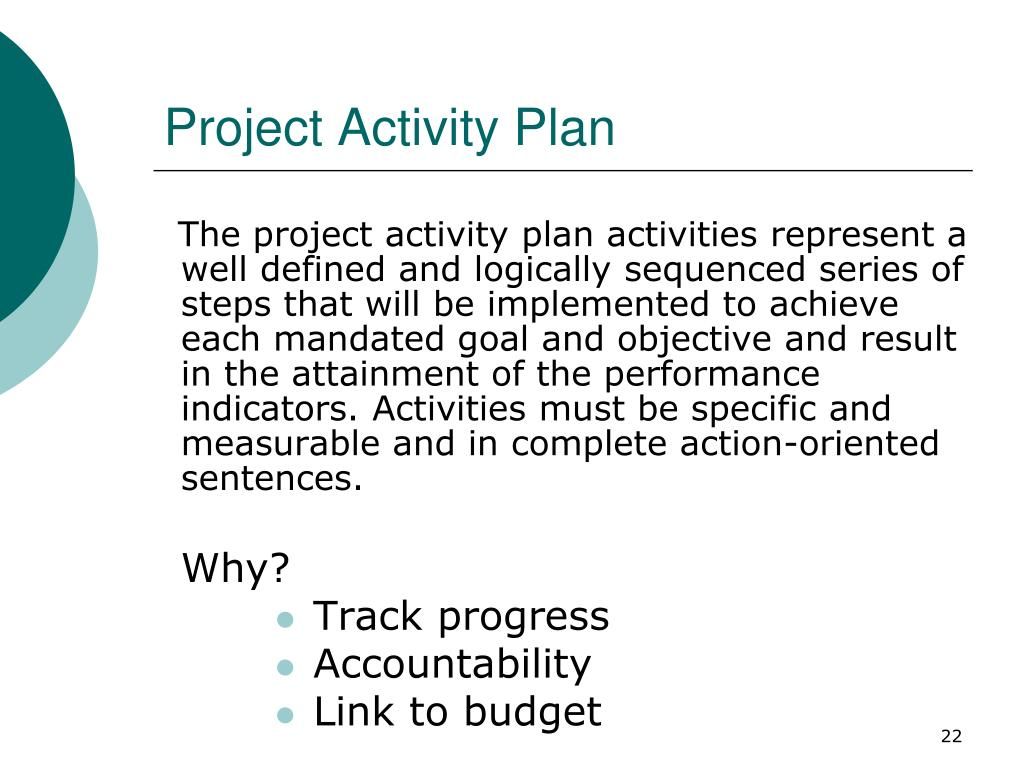 Project Activity Plan